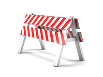 Road repair, under construction road sign. 3D Royalty Free Stock Photos