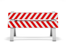 Road repair, under construction road sign. 3D. Rendering Royalty Free Stock Photo