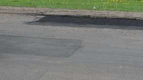 Road repair works stock video