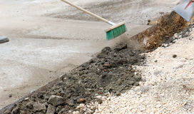 Road repairing works Royalty Free Stock Image