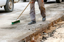 Road repairing works Royalty Free Stock Photo