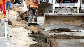 Road repairing works Royalty Free Stock Photos