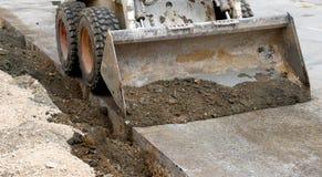 Road repairing works Stock Photos
