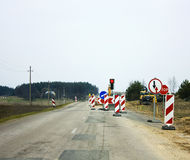 Road repairs Stock Photography