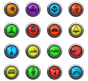 Road repairs icon set Royalty Free Stock Image