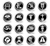 Road repairs icon set Stock Image