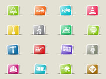 Road repairs icon set Royalty Free Stock Images
