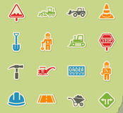 Road repairs icon set Stock Photography