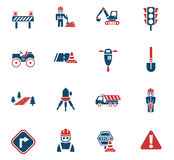 Road repairs icon set. Road repairs web icons for user interface design Stock Images