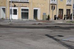 ROAD REPARATION  CROSS ALLEEN AND KASTTRUPLUNDGADE Stock Image