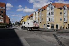 ROAD REPARATION  CROSS ALLEEN AND KASTTRUPLUNDGADE Stock Photos
