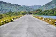 Road of reservoir Stock Photos
