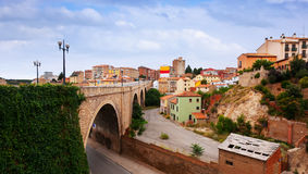 Road and residence district in Teruel Stock Image
