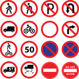 Road restriction signs Stock Photography