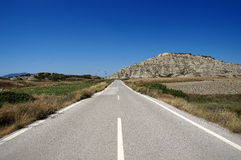 Road of Rhodes Stock Image