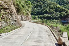 Road rice paddy terrace fields  Philippines Royalty Free Stock Images