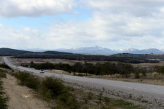 The road from Rio Grande to Ushuaia. Royalty Free Stock Photo