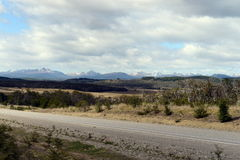 The road from Rio Grande to Ushuaia. Royalty Free Stock Photos