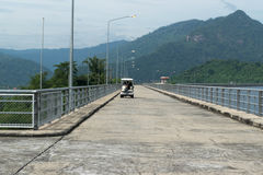 Road on river to the mountain. Road near the river to the mountain Royalty Free Stock Photography