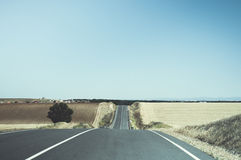 Road. Trip travelling driving country fields Royalty Free Stock Images