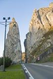 Road through a rock Royalty Free Stock Photos