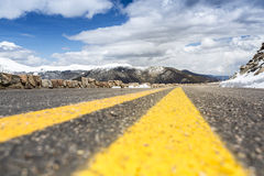 Road through Rocky Mountains National Park, Colorado Royalty Free Stock Photos