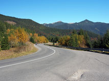 Road and Rohace, Western Tatras, Slovakia Stock Image