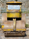 Road Roller. Used for Levelling the Roads Under Construction Royalty Free Stock Image