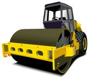 Road roller royalty free illustration