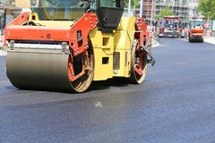 Road_roller imagem de stock royalty free