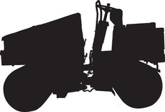 Road Roller. Silhouette of Road Roller in vertor file Royalty Free Stock Images