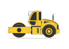 Road roller  on background Stock Images
