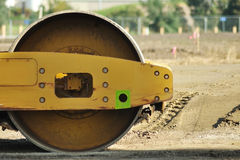 Road roller close-up Royalty Free Stock Photography
