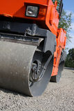 Road roller closeup Royalty Free Stock Photo