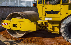 Road roller compact foundation Royalty Free Stock Photos