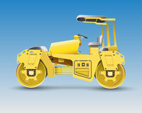 Road roller. For construction area Royalty Free Stock Photography