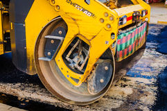 Road Roller Front Detail Stock Photos