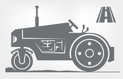 Road roller icon Stock Image