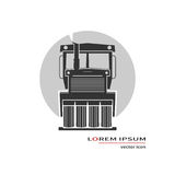 Road roller icon Royalty Free Stock Photos