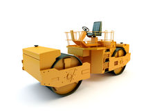 Road roller isolated Royalty Free Stock Image
