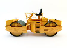 Road roller isolated Royalty Free Stock Photos