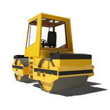 Road roller isolated on white background. Royalty Free Stock Photos