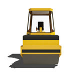 Road roller isolated on white background. Stock Photography