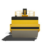 Road roller isolated on white background. Royalty Free Stock Photography