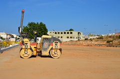 A Road Roller On A Levelled Surface Stock Images