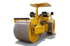 Road roller machine isolated Stock Photo