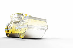 Road roller sketch and Construction Stock Photography