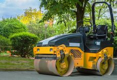Road roller Royalty Free Stock Photography