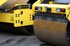 Road Rollers. At the street royalty free stock photo