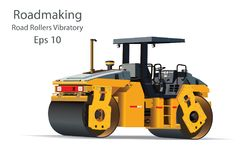 Road Rollers Vibratory Royalty Free Stock Image